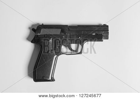 Gun Lighter on a white background studio