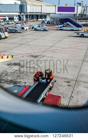 Aircraft ready for boarding