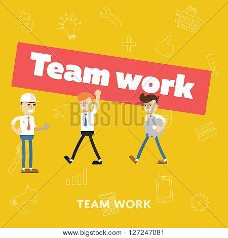 Teamwork business concept vector illustration. Teamwork people partnership. Business people work. Teamwork meeting start up concept. Business community. Teamwork concept. Teamwork hands. Business concept. Teamwork. Abstract business concept. Make a deal.