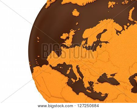 Europe On Chocolate Earth