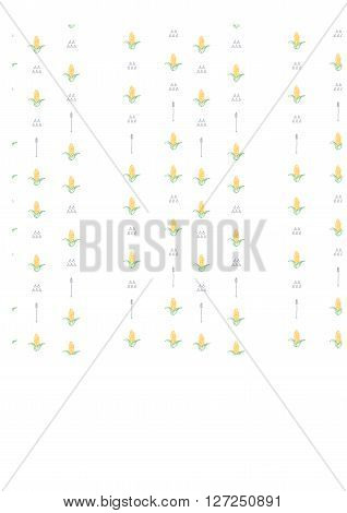 Vector seamless pattern displaying bold corns. Elegance Seamless background with of corns. corns vector illustration