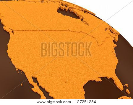 Usa On Chocolate Earth