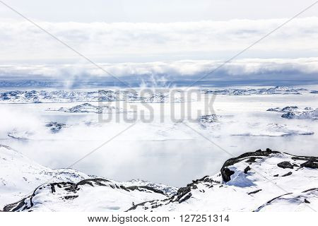 Nuuk fjord view from Store Malene Greenland