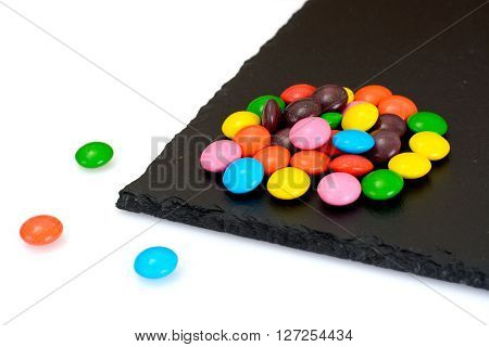 Sweet Bonbons Candy on Isolated on White Background