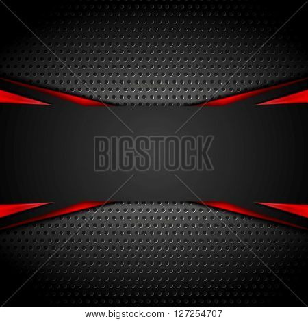 Abstract dark corporate red black background. Vector illustration
