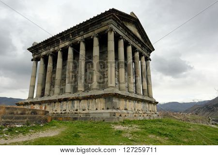 Ancient Garni pagan Temple, the hellenistic temple in  Armenia