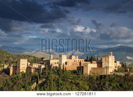 Fortress of Alhambra. Granada, Spain