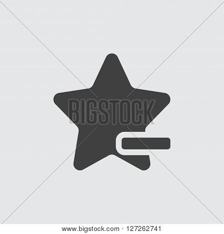 Delete favorite icon illustration isolated vector sign symbol