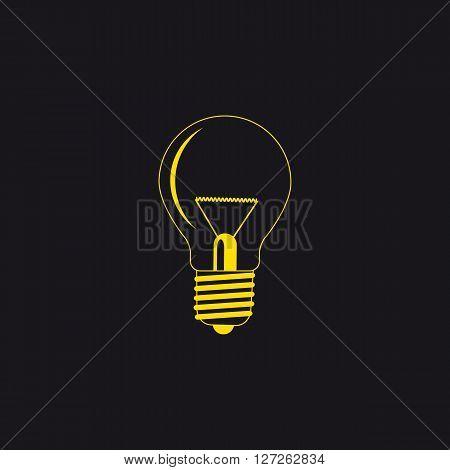 bulb vector illustration logo in a black