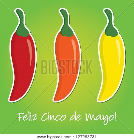 Cinco De Mayo Paper Cut Out Card In Vector Format.