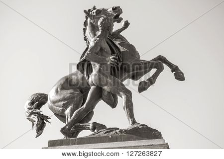 Bronze Statue Of Horse Tamer, Vienna