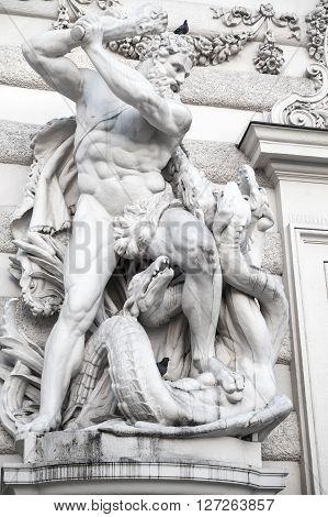 Hercules And Lernaean Hydra, Staute In Vienna