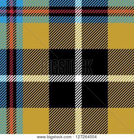 cornish tartan seamless pattern fabric texture. Vector illustration. EPS 10. No transparency. No gradients.
