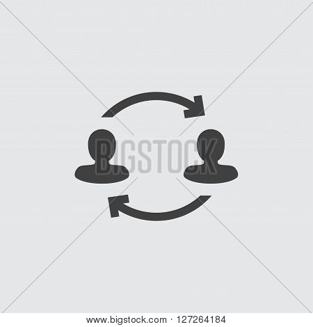Transfer icon illustration isolated vector sign symbol