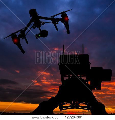 Operator with transmittion control the drone.