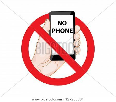 Forbidding Signs No Phone vector illustration smartphone