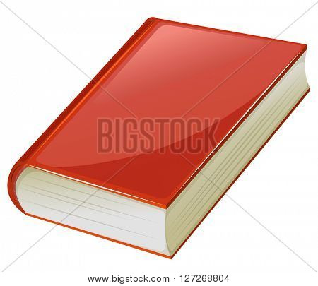 Textbook with red covers illustration