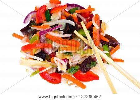 A Mix of Chinese Vegetables Studio Photo