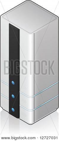 Futuristic Tower Server Rack