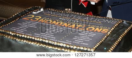 LOS ANGELES - APR 25:  Cake at the Bold and Beautiful Emmy Nominees Celebration at the CBS Television City on April 25, 2016 in Los Angeles, CA