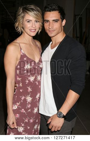 LOS ANGELES - APR 25:  Linsey Godfrey, Marco James Marquez at the Bold and Beautiful Emmy Nominees Celebration at the CBS Television City on April 25, 2016 in Los Angeles, CA