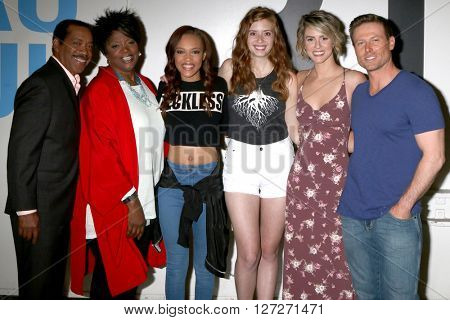 LOS ANGELES - APR 25:  Obba Babatunde, Anna Maria Horsford, Reign Edwards, Ashlyn Pearce, Linsey Godfrey, Jacob Young at the BmB Emmy Nominees Celebration at CBS on April 25, 2016 in Los Angeles, CA