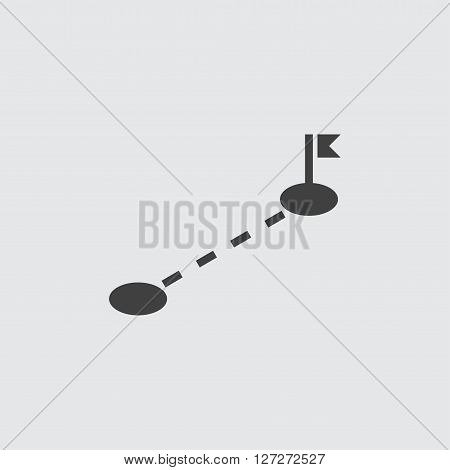 Route icon illustration isolated vector sign symbol