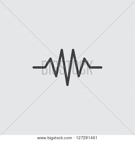 Heartbeat cardiogram line icon illustration isolated vector sign symbol