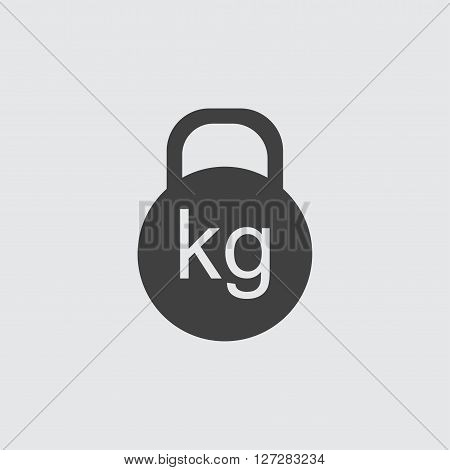 Kettle bell icon illustration isolated vector sign symbol