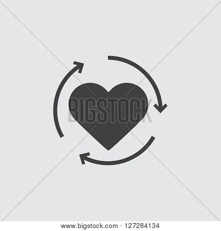 Heart reload icon illustration isolated vector sign symbol