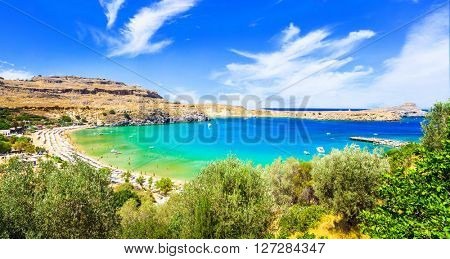 most beautiful beaches of Greece - Lindos in Rhodes island