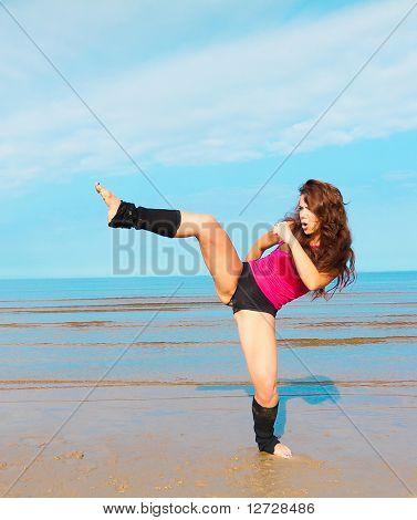 Beach Exercise Jump