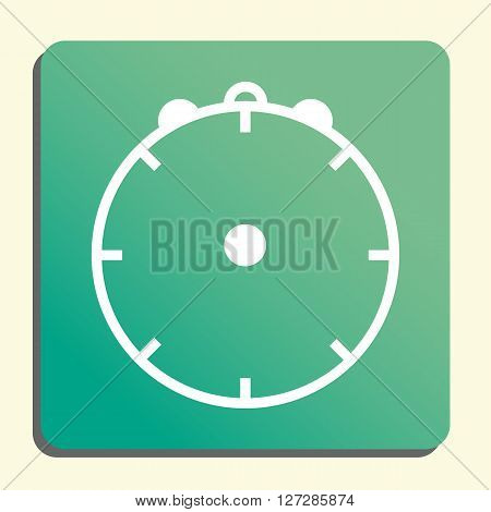 Clock Icon In Vector Format. Premium Quality Clock. Web Graphic Clock Sign On Green Light Background