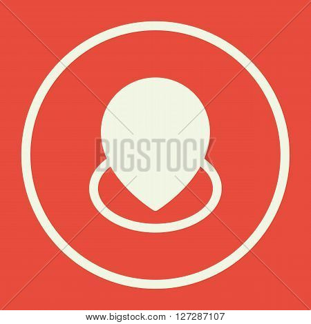 Location Icon In Vector Format. Premium Quality Location. Web Graphic Location Sign On Red Backgroun