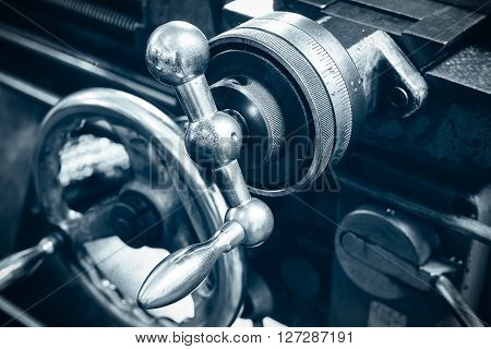 Part of the lathe beautiful closeup picture