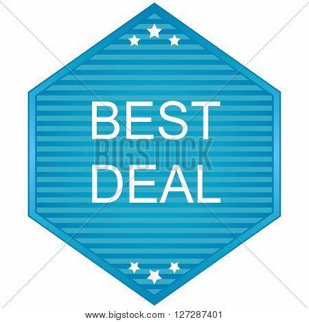 Best deal labels in blue tonnes. Vector.