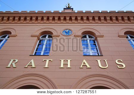 Rathaus city or town hall in Schwerin, Germany