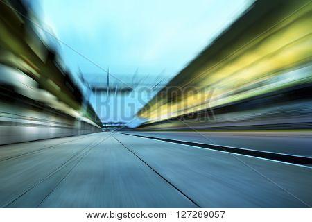 Motion blurred racetrack , motion blur effect