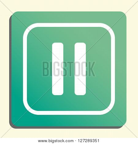 Music Pause Icon In Vector Format. Premium Quality Music Pause. Web Graphic Music Pause Sign On Gree