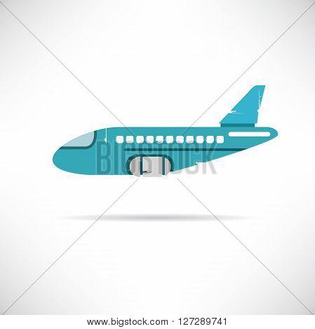 plane icon grunge style in white background