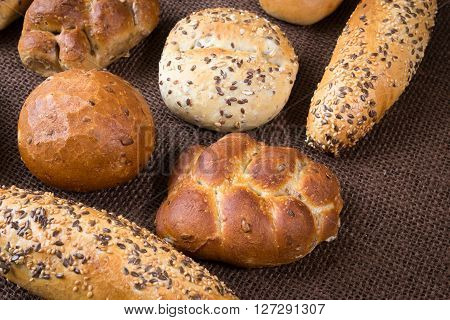 Different Sorts Of Wholemeal Breads And Rolls