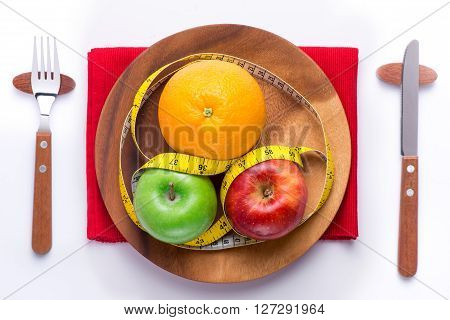 Diet meal. Fitness lose weight meal for getting fit body. Healthy food concept