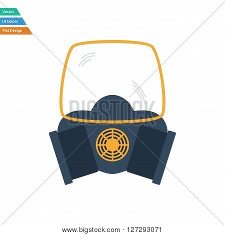 Flat Design Icon Of Chemistry Gas Mask