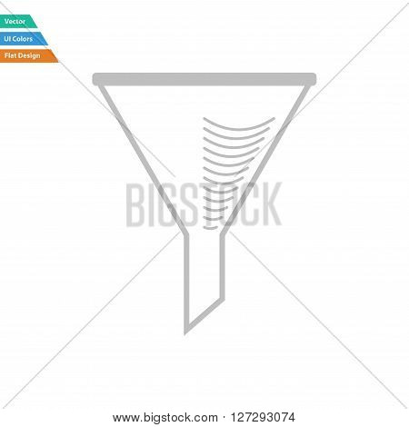 Flat Design Icon Of Chemistry Filler Cone