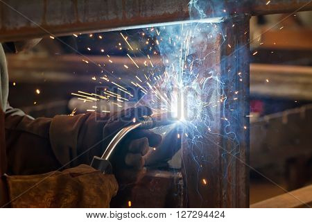 Semi-automatic Welding In Shielding Gases