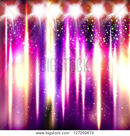 Light stage fireworks club easy editable