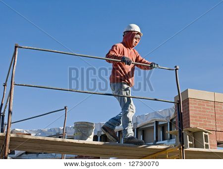 Putting Up Scaffolding