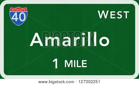 Amarillo Usa Interstate Highway Sign