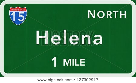 Helena Usa Interstate Highway Sign