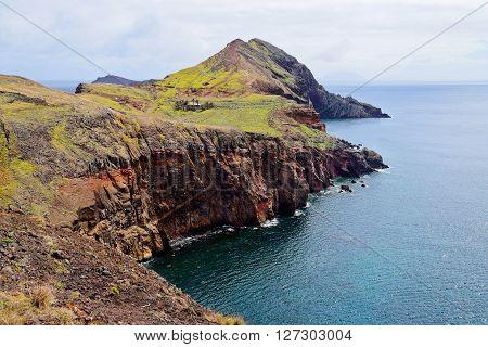 View of Sao Laurenco Peninsula in Madeira Portugal